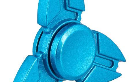 Fidget spinner modrý (kovový)