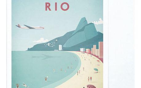 Plakát Travelposter Rio, A3