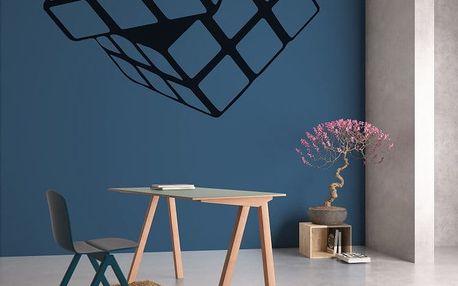 GLIX Rubikova kostka - samolepka na zeď Černá 80 x 70 cm