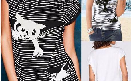 Dámské tričko s potiskem Kočky