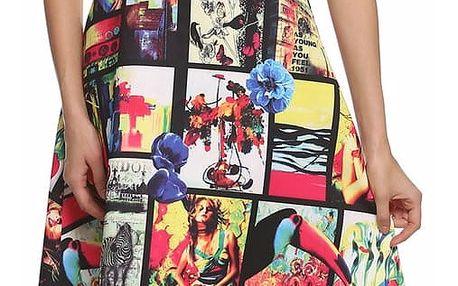 LK shop Vintage šaty s extravagantním potiskem Velikost: XL