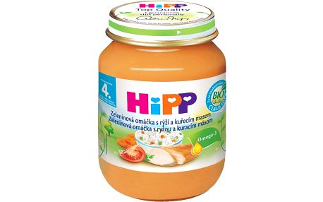 HIPP BIO zeleninová omáčka s rýží a kuřetem (125 g) - maso-zeleninový příkrm