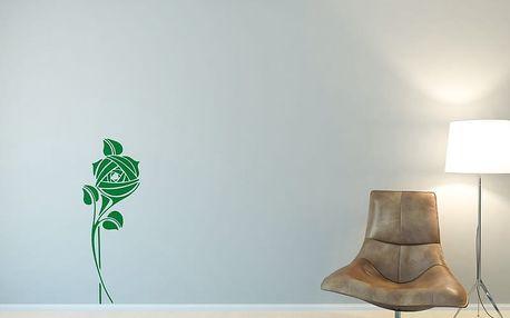 GLIX Květinová dekorace - samolepka na zeď Světle zelená 30 x 80 cm