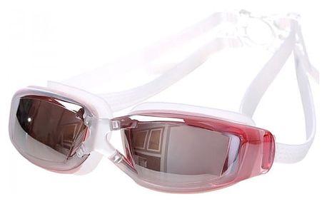 Nemlžící se plavecké brýle s UV ochranou - růžová