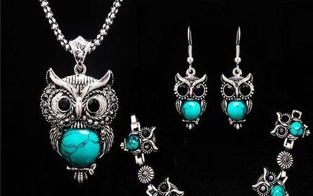 Sada šperků se sovičkami - 3 barvy