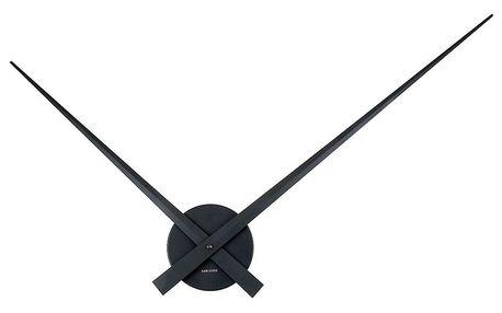 Černé nástěnné hodiny Present Time Little Big Time