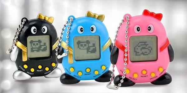 Tamagotchi/Electronic pets: kultovní elektronická hračka do kapsy ve 3 barvách, výběr ze 168 zvířátek k chování5