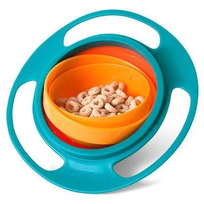 Rotační miska s gyroskopem proti vysypání obsahu pro děti - 3 barvy