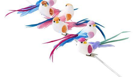 Sada 6 dekorativních ptáčků Talking Tables Truly Romantic