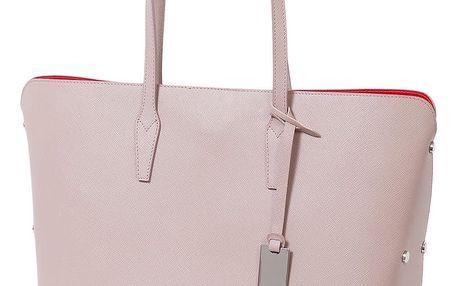 Pudrově růžová kabelka z pravé kůže Andrea Cardone Eulalia - doprava zdarma!