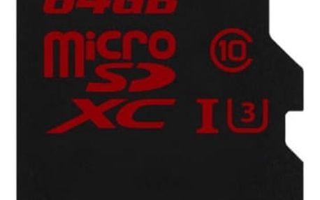 Paměťová karta Kingston 64GB UHS-I U3 (90R/80W) (SDCA3/64GBSP)