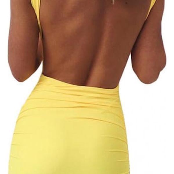 Přiléhavé šaty s holými zády