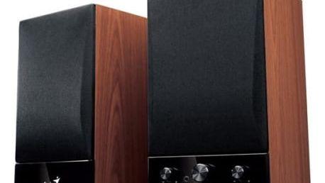 Reproduktory Genius SP-HF1250B 2.0 (31731022100) černá/imitace dřeva