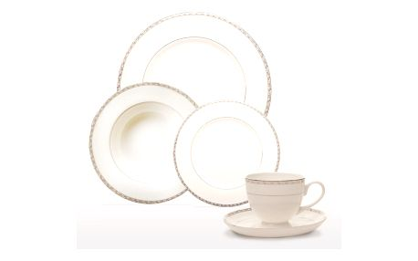 20dílná sada nádobí z kostního porcelánu Sabichi Platinum - doprava zdarma!