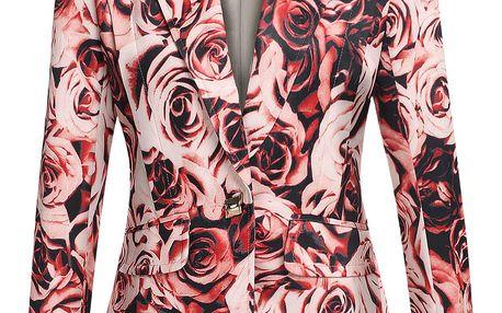 LK shop Sako s potiskem růží Barva: červená, Velikost: L