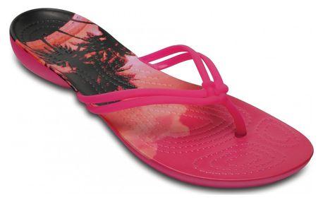Crocs dámské růžové žabky Isabella Graphic Candy Pink - W8