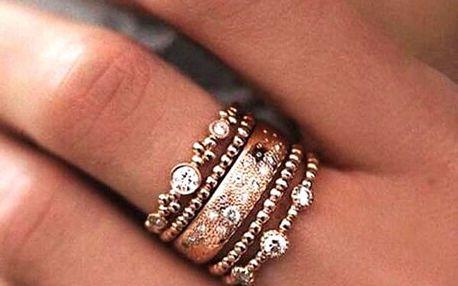 Dámský prsten s kamínky - 5 ks