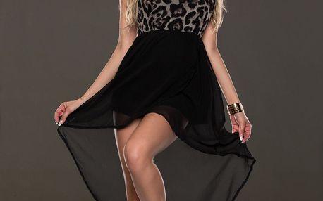 LK shop Asymetrické šaty leopard Velikost: L