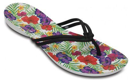 Crocs barevné dámské žabky Isabella Graphic Black/Floral - W7