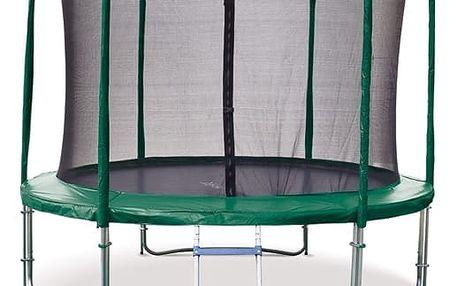 Marimex Trampolína Marimex 305 cm + vnitřní ochranná síť + schůdky ZDARMA (zelená) - 19000040