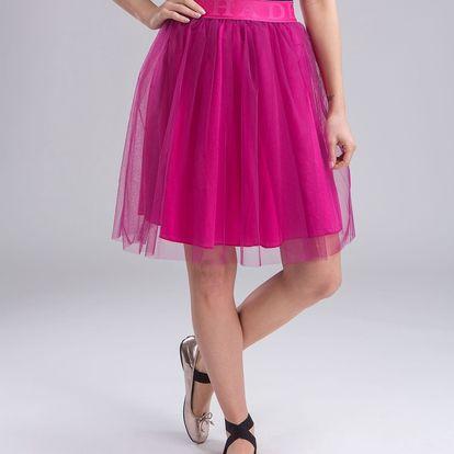 Deha fuchsiová tylová sukně - S