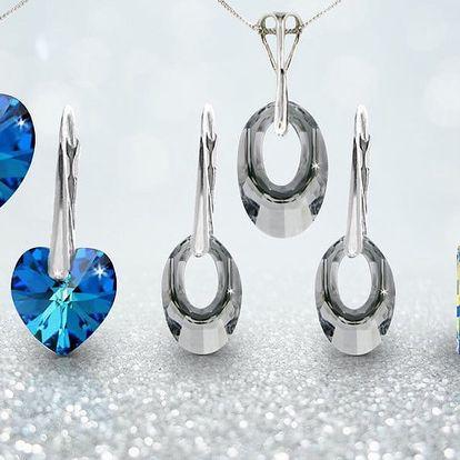 Stříbrná souprava se Swarovski krystaly