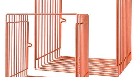 Sada 2 oranžových poliček Done by Deer Wire
