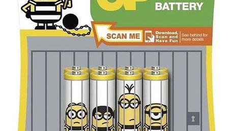 Baterie GP Mimoni, AAA, 6 + 2 ks