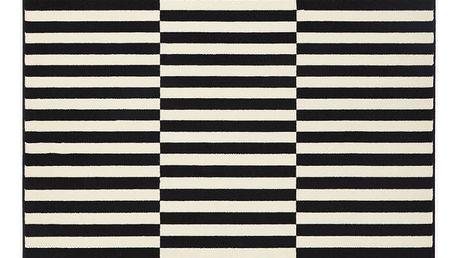 Černo-krémový koberec Hanse Home Gloria Panel, 160x230cm - doprava zdarma!