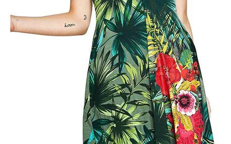 Desigual dámské šaty Maroni M zelená