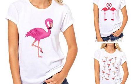 Dámské tričko s potiskem plameňáka Flamingo