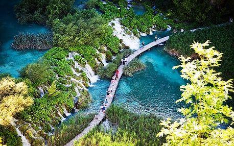 3denní zájezd pro 1 osobu k Plitvickým jezerům v Chorvatsku