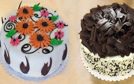 Až dvoukilové lahodné dorty k nakousnutí z cukrárny Merlot