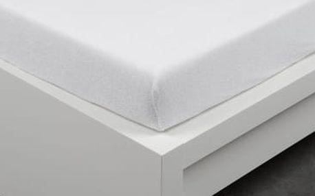 XPOSE ® Froté prostěradlo Exclusive dvoulůžko - bílá 180x200 cm