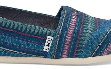 Toms modré boty Cobalt Tribal Woven - 38