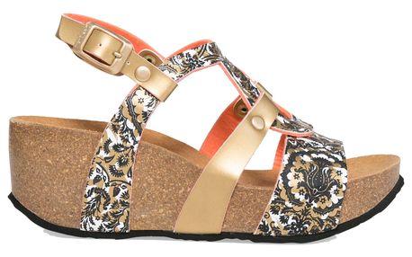 Desigual zlaté boty na klínku Bio9 Save The Queen - 41