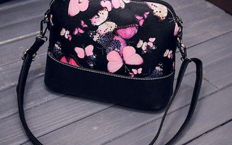 Kabelka s růžovými motýlky
