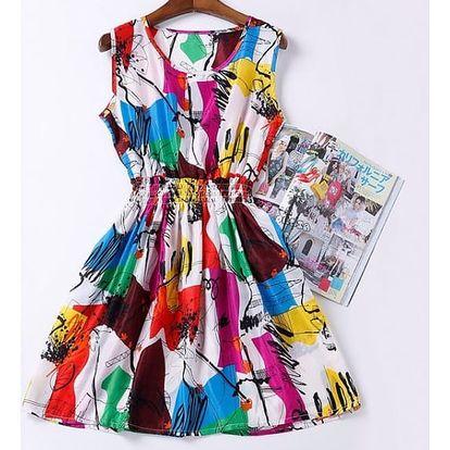 Rozmanité letní šaty - vzor: 6, velikost: 2 - dodání do 2 dnů