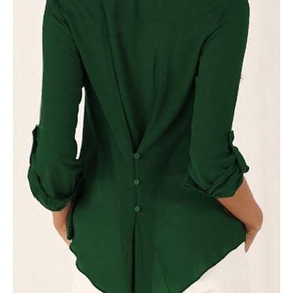 Dámská blůza s hlubokým výstřihem v mnoha barvách - zelená, vel. 5