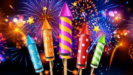 Velký ohňostroj na svatbu nebo narozeniny