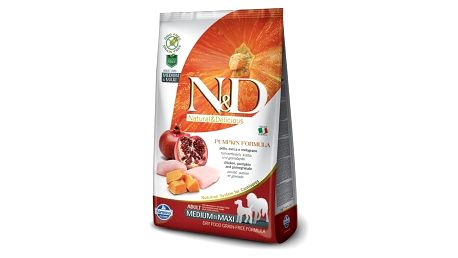 Granule N&D Grain Free Pumpkin DOG Adult M/L Chicken & Pomegranate 12kg + Doprava zdarma