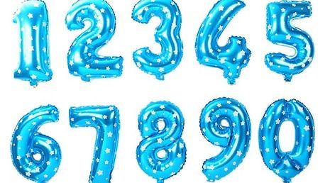 Nafukovací balónky ve tvaru čísla - modrá, číslo 3