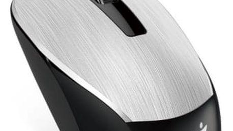 Myš Genius NX-7015 (31030119105) stříbrná / optická / 3 tlačítka / 1600dpi