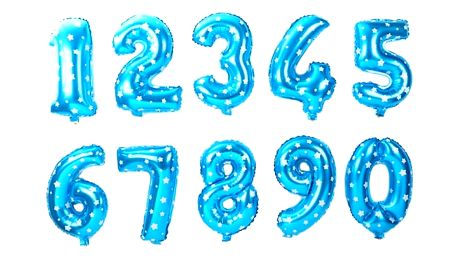 Nafukovací balónky ve tvaru čísla - modrá, číslo 0