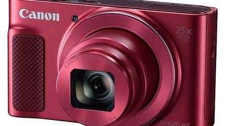 Digitální fotoaparát Canon PowerShot SX620 HS (1073C002) červený Pouzdro foto Canon DCC-1500 (zdarma) + Doprava zdarma