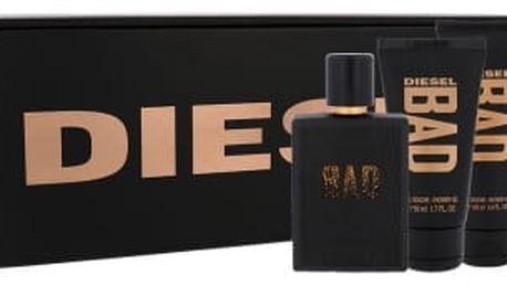 Diesel Bad dárková kazeta pro muže toaletní voda 75 ml + sprchový gel 100 ml + sprchový gel 50ml