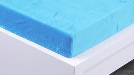 XPOSE ® Prostěradlo mikroflanel Exclusive dvoulůžko - azurová 90x200 cm