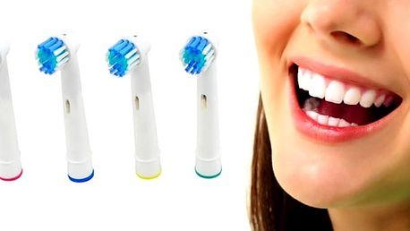 Univerzální náhradní hlavice 4 ks, kompatibilní s elektrickými kartáčky Oral-B Precision Clean. Vlákna kartáčové hlavice zajistí dokonalé vyčištění zubů, vnější vlákna obklopují každý zub a zajišťují tak jeho důkladné vyčištění, snadněji vyčistí těžko do