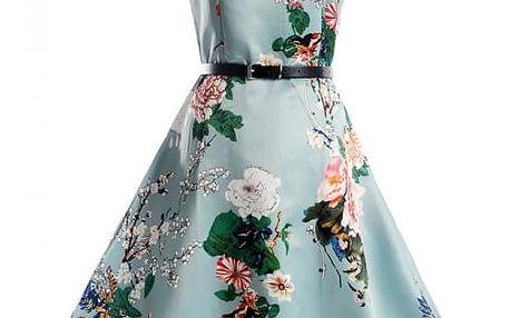 Dámské květinové šaty - vzor 1, vel. 5