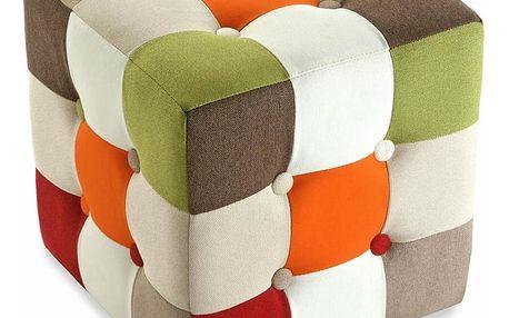Puf na sezení Versa Red Cube - doprava zdarma!